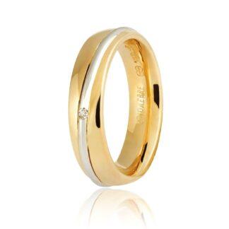 Fede Unoaerre Oro Bicolore Diamante