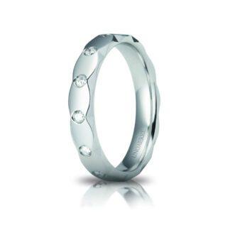 Fede Anniversario Classica Unoaerre Oro Bianco Diamanti