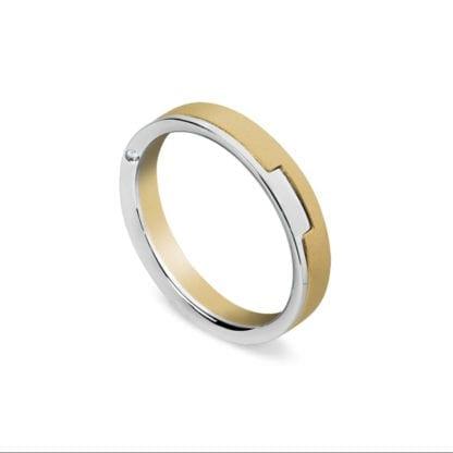 Anello Fede Donna Artlinea Oro Giallo Diamanti - ADF024-SN