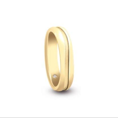 Anello Fede Donna Artlinea Oro Giallo Diamanti - ADF143-SG