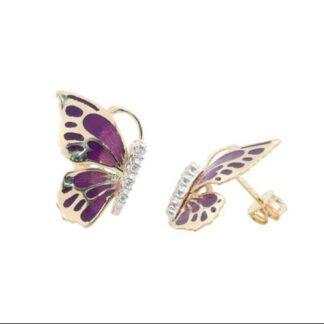 Orecchini Donna Artlinea Oro Smalto Zirconi - Spring - OE4667-MG
