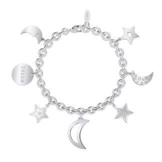 Bracciale 2Jewels Acciaio Ciondoli Stelle e Luna - Preppy- 232011