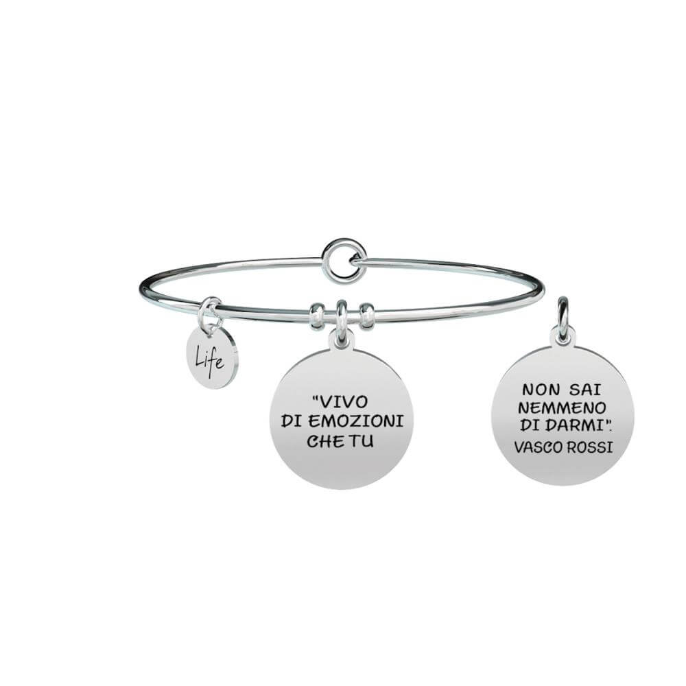 Bracciale Kidult Acciaio Donna Ciondolo Vasco Rossi Official Collection  ,LIFE Free Time, 731465