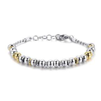 Bracciale Brosway Personalizzabile Acciaio Catena Perle Metalliche - Très Jolie - BTJMP006