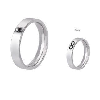 Anello 2Jewels Acciaio Cristallo Nero Infinito - Love Rings - 221069