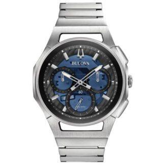 Orologio Bulova Cronografo da Uomo in Acciaio - Curv Progressive - 96A205