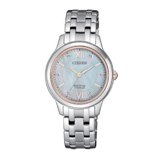 Orologio Citizen Eco Drive in Super Titanio con Diamanti - EM0726-89Y