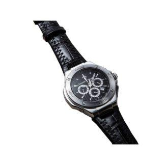 Orologio Cronografo Uomo Cesare Paciotti Mountain Acciaio Pelle Nera - TSCR095