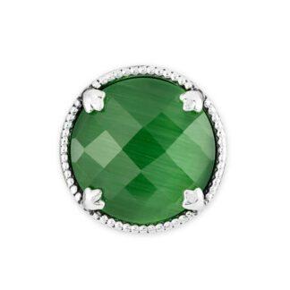 Elemento Singolo Gerardo Sacco Argento Pietra Verde - Occhio di Gatto - 27835VE