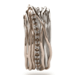 Anello 13 Fili Argento Oro Rosa Diamanti Brown - Classic Collection - AN13ARBR|Anello 13 Fili Argento Oro Rosa Diamanti Brown - Classic Collection - AN13ARBR