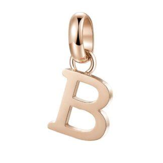 Charm Brosway Acciaio PVD Oro Rosa Lettera - B - Très Jolie - BTJM221