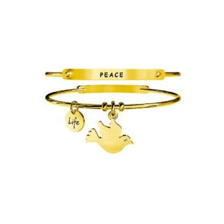 Bracciale Kidult PVD Dorato Life Animal Planet - Colomba|Pace - 231635