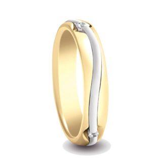 Anello Fede Donna Artlinea Oro Bicolore Diamanti - ADF83-LN