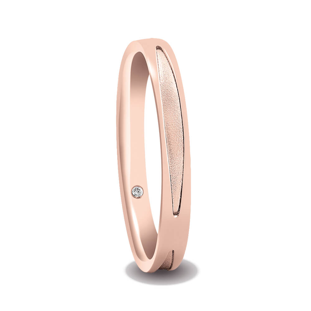 l'atteggiamento migliore 0880a 53960 Anello Fede Donna Artlinea Oro Rosa e Diamante - ADF096-SR