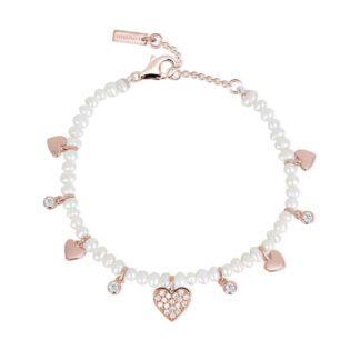 Bracciale Mabina Argento Rosato Perle Zirconi - 533288