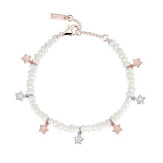Bracciale Mabina Argento Rosato Perle Zirconi - 533291