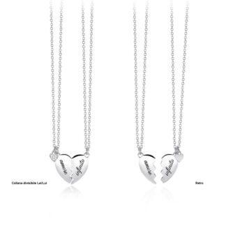 Collana Divisibile Girocollo Mabina Argento Zirconi - 553283
