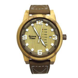 Orologio Green Time Solo Tempo Legno Eco Pelle - ZW095A