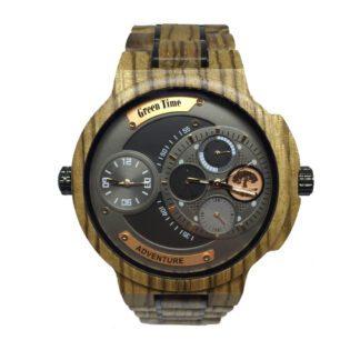 Orologio Green Time Cronografo Legno Zebrano - ZW098B
