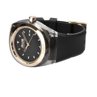 Orologio 4US Solo Tempo Acciaio Silicone Crystal Black - T4CY109