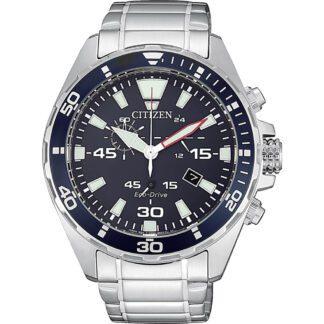 Orologio Citizen Eco Drive Cronografo Acciaio - Crono Sport - AT2430-80E