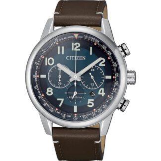 Orologio Citizen Eco Drive Cronografo Acciaio Pelle - Millitary - CA4420-13L