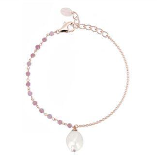 Bracciale Mabina Argento Rosato Tormalina Rosa Perla - 533296