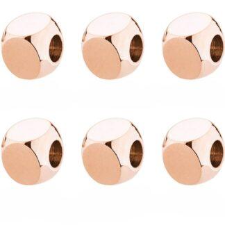 Charm Brosway Acciaio PVD Oro Rosa Cubo - Très Jolie - BTJU04