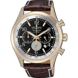 Orologio Vagary Cronografo Acciaio Dorato Pelle - Rockwell - IV4-225-50