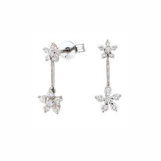 Orecchini Donna Artlinea Oro Bianco Diamanti - Punti Luce - OD038-LB