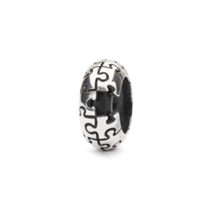 Bead Trollbeads Argento Stop Puzzle - TAGBE-20207