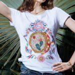 T-Shirt Isola Bella Cotone Strass - Tamburello - 20000979