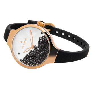 Orologio Solo Tempo Hoops Acciaio Dorato Silicone Cristalli - Nouveau Chérie Gold - 2611L-RG01