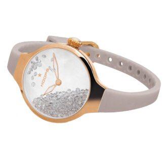 Orologio Solo Tempo Hoops Acciaio Dorato Silicone Cristalli - Nouveau Chérie Gold - 2611L-RG04
