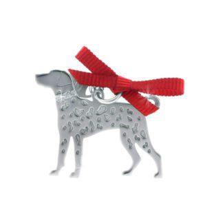 Ciondolo Unoaerre Argento Smalto Cane Dalmata - Happy Pets - AG1134