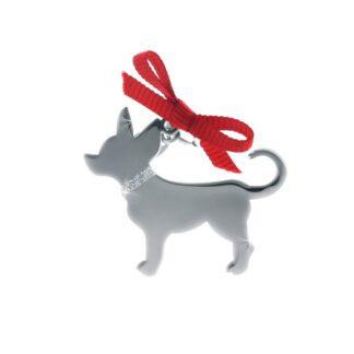 Ciondolo Unoaerre Argento Smalto Cane Chiuaua- Happy Pets - AG832