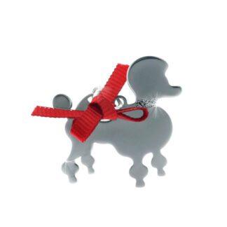 Ciondolo Unoaerre Argento Smalto Cane Barboncino - Happy Pets - AG835