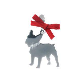 Ciondolo Unoaerre Argento Smalto Cane Bulldog - Happy Pets - AG842