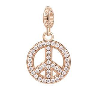 Charm Rosato Argento PVD Rosè simbolo Pace - Storie - Z021