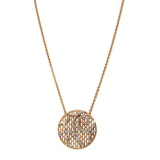 Collana con Ciondolo in Oro Rosa e Diamanti