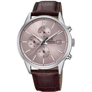Orologio Festina Cronografo Acciaio Pelle - Timeless Chronograph - F20284/2