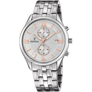 Orologio Festina Cronografo Acciaio - Timeless Chronograph - F6854/5