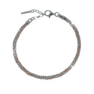Bracciale Unoaerre Argento Bicolore Intrecciato - Silver - AG1380