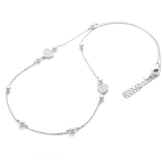 Collana 4US Paciotti Argento - Pearl and Love - 4UCL3011W