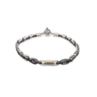 Bracciale Barakà Oro Bianco Ceramica Diamanti Neri - BR221611ROCN210006