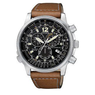 Orologio Citizen Eco Drive Acciaio Crono Pilot Acciaio | Radiocontrollato - CB5860-27E