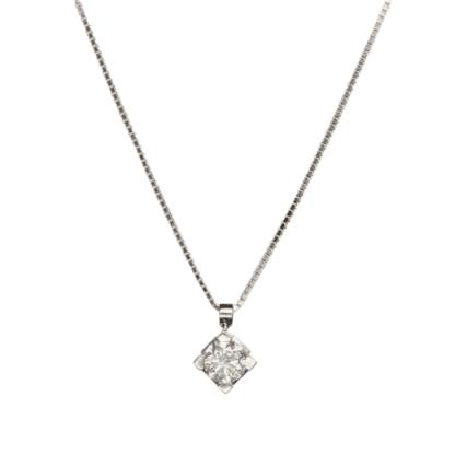 Collana Davite & Delucchi Oro Bianco Diamante - CLNS10138