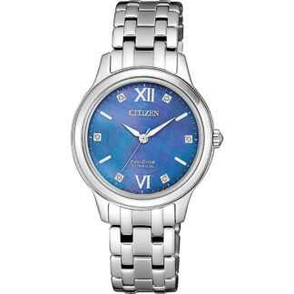 Orologio Citizen Super Titanio Donna Solo Tempo Eco Drive Madreperla Diamante - Lady Titanio -EM0720-85N