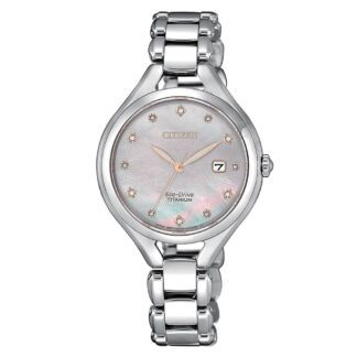 Orologio Citizen Eco Drive Titanio Diamanti - Lady Super Titanio - EW2560-86Y