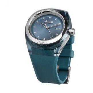 Orologio 4US Solo Tempo Acciaio Resina Silicone Crystal - T4CY118